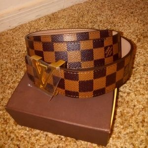 Louis Vuitton Belt Damier Brown